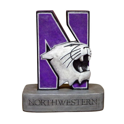 Northwestern Wildcats Ncaa N-cat Wildcat College Mascot 18in Full Color Statue