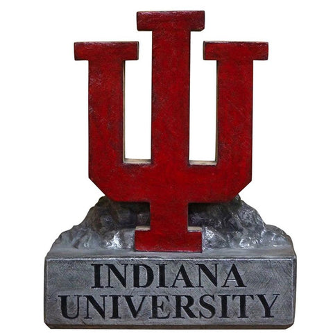 Indiana Hoosiers Ncaa Iu Trident Logo College Mascot 18in Full Color Statue