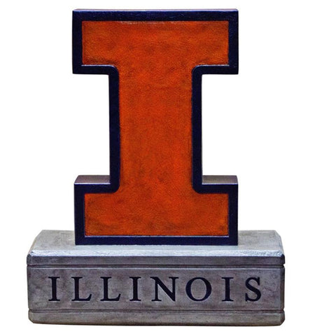 Illinois Fighting Illini Ncaa Block I Logo College Mascot 16.5in Full Color Statue