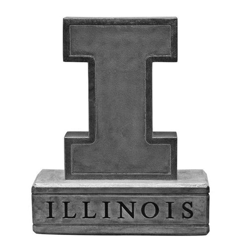 Illinois Fighting Illini Ncaa Block I Logo College Mascot 16.5in Vintage Statue