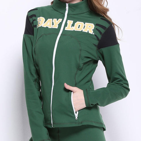 Baylor Bears Ncaa Womens Yoga Jacket (green) (x-small)