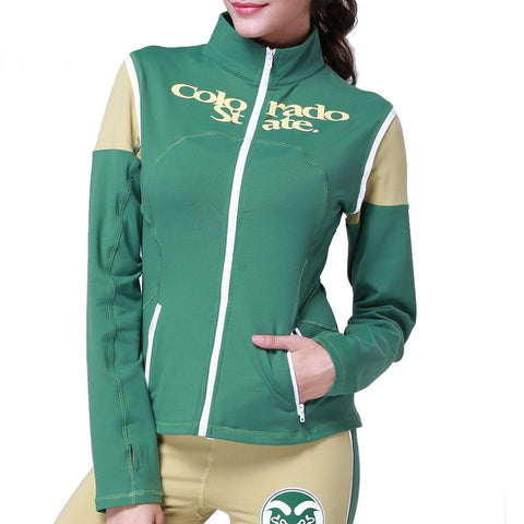 Colorado State Rams Ncaa Womens Yoga Jacket (green)