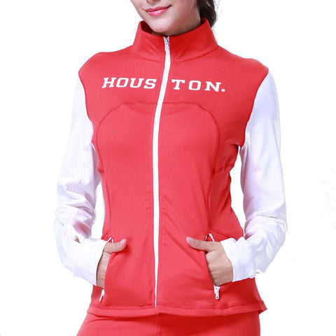 Houston Cougars Ncaa Womens Yoga Jacket (red) (medium)
