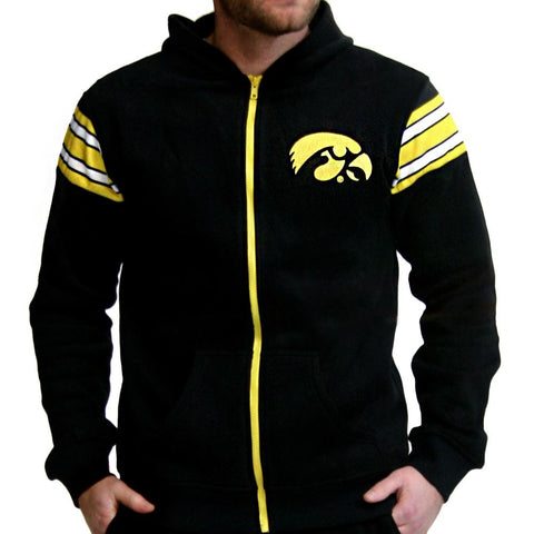 Iowa Hawkeyes Ncaa Mens Full-zip Hoddie (black)