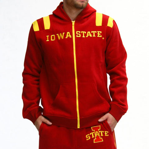 Iowa State Cyclones Ncaa Mens Full-zip Hoddie (red)