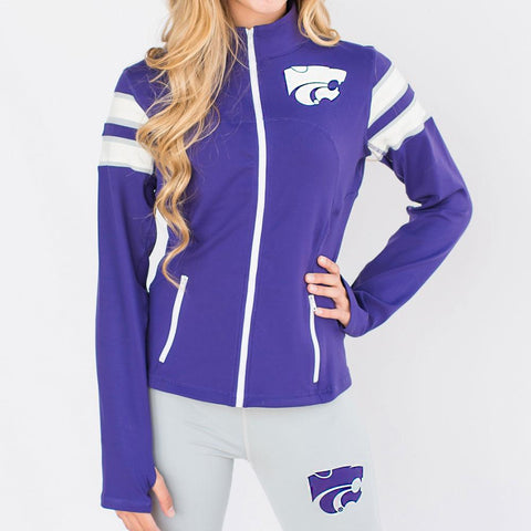 Kansas State Wildcats Ncaa Womens Yoga Jacket (purple)
