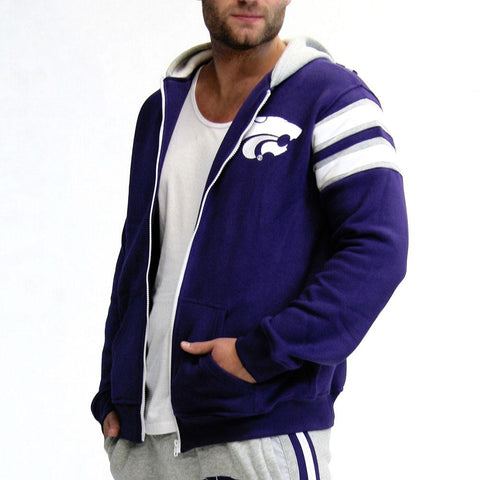 Kansas State Wildcats Ncaa Mens Full-zip Hoddie (purple)