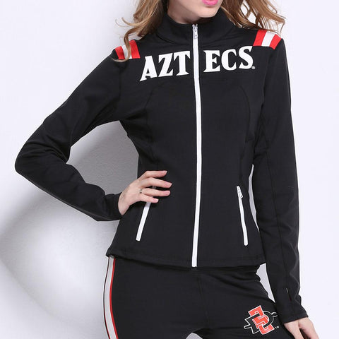 San Diego State Aztecs Ncaa Womens Yoga Jacket (black) (large)