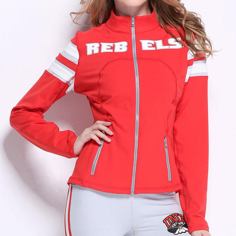 Unlv Runnin Rebels Ncaa Womens Yoga Jacket (red) (large)