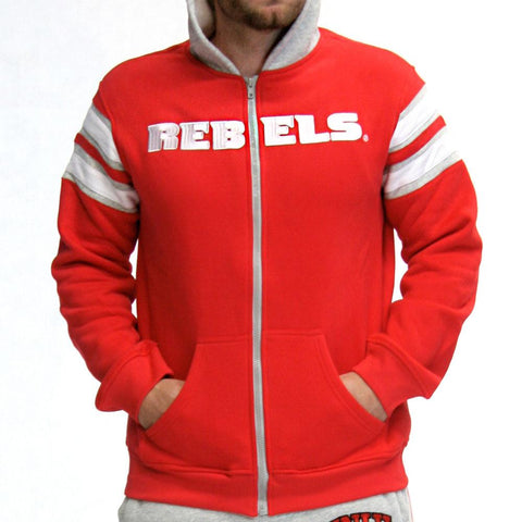 Unlv Runnin Rebels Ncaa Mens Full-zip Hoddie (red)