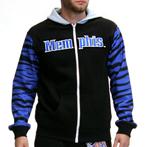 Memphis Tigers Ncaa Mens Full-zip Hoddie (black)