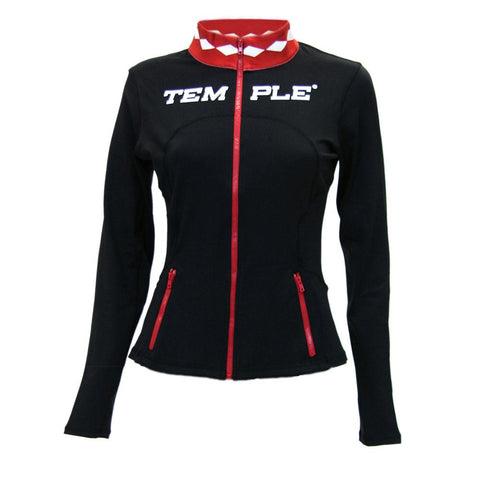 Temple Owls Ncaa Womens Yoga Jacket (black) (medium)