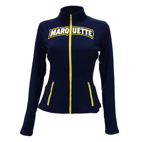 Marquette Golden Eagles Ncaa Womens Yoga Jacket (navy Blue)