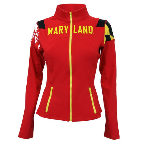 Maryland Terps Ncaa Womens Yoga Jacket (red)