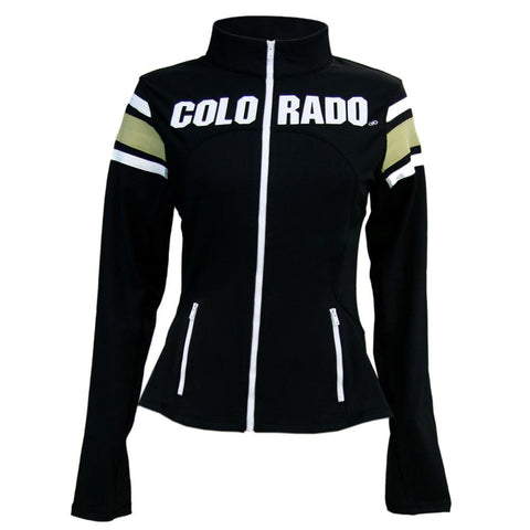 Colorado Golden Buffaloes Ncaa Womens Yoga Jacket (black)