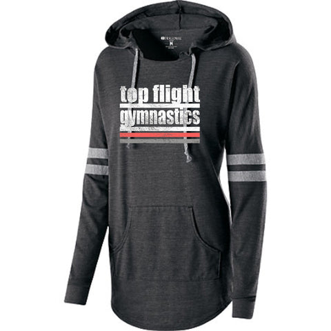 Top Flight - Ladies - Vintage Black Low-Key Hooded Pullover