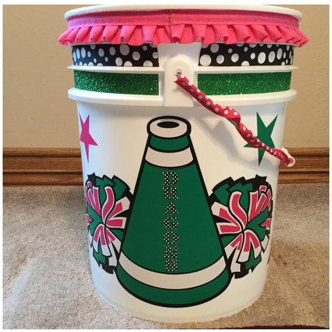 DYC - Cheer Bucket with ALL DECORATIONS