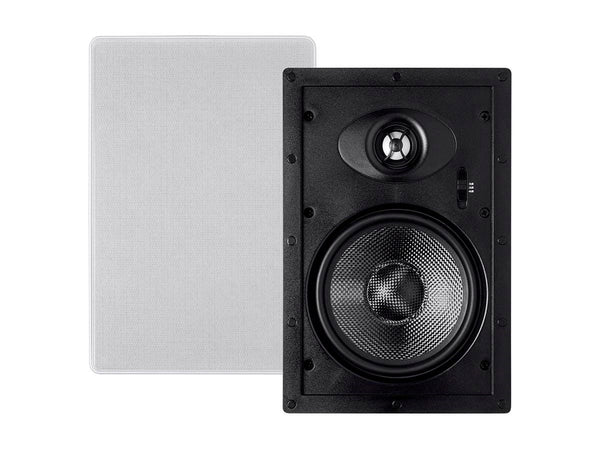 Monoprice Alpha In-Wall Speakers 6.5in Carbon Fiber 2-way (pair) (13618)