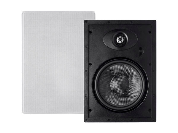 Monoprice Alpha In-Wall Speakers 8in Carbon Fiber 2-way (pair) (13682)