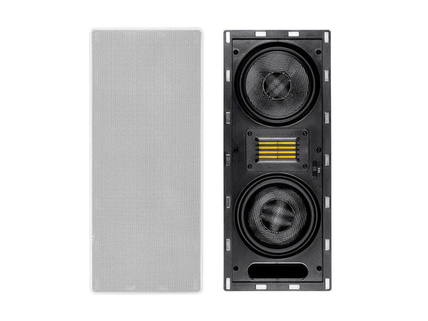 Monoprice Amber In-Wall Speaker 6.5-inch 3-way Carbon Fiber Column with Ribbon Tweeter (each)(15700)