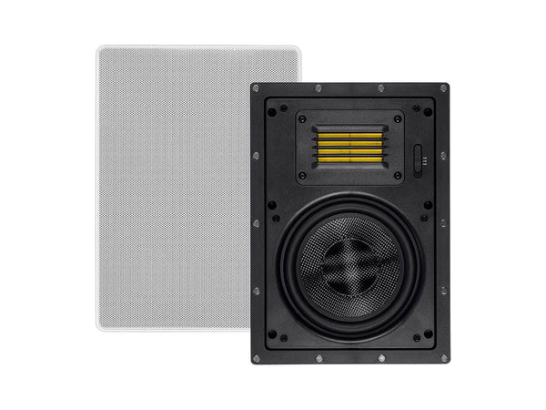 Monoprice Amber In-Wall Speakers 6.5in 2-way Carbon Fiber with Ribbon Tweeter (pair) (24432)