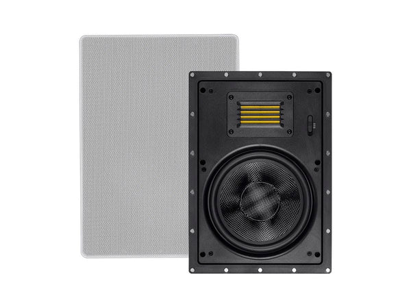 Monoprice Amber In-Wall Speakers 8-inch 2-way Carbon Fiber with Ribbon Tweeter (pair) (24433)