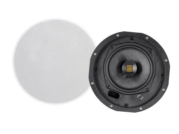 Monoprice Amber Ceiling Speakers 6.5-inch 2-way Carbon Fiber with Ribbon Tweeter (pair) (24434)