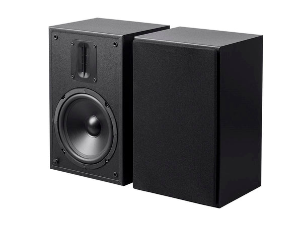 Monoprice MP-65RT 6.5in and Ribbon Tweeter 2-Way Bookshelf Speakers (Pair), Black-Large-Image-1 Monoprice MP-65RT 6.5in and Ribbon Tweeter 2-Way Bookshelf Speakers (Pair), Black (24739)