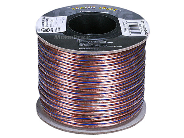 Monoprice PID-2795 Speaker Cable: Choice Series 18AWG Oxygen-Free Pure Bare Copper, 100ft - Jamsticks