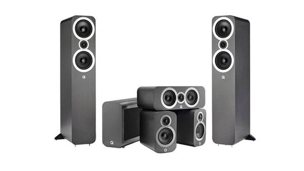 Q Acoustics 5.1 Speaker Package ( Q3010i, Q3050i, Q3090Ci ) - Jamsticks