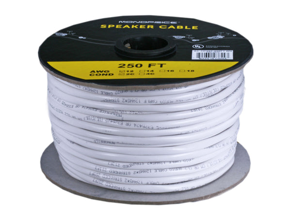 Monoprice PID-3844 Speaker Cable: Access Series 12AWG CL2 Rated Cable, 250ft - Jamsticks