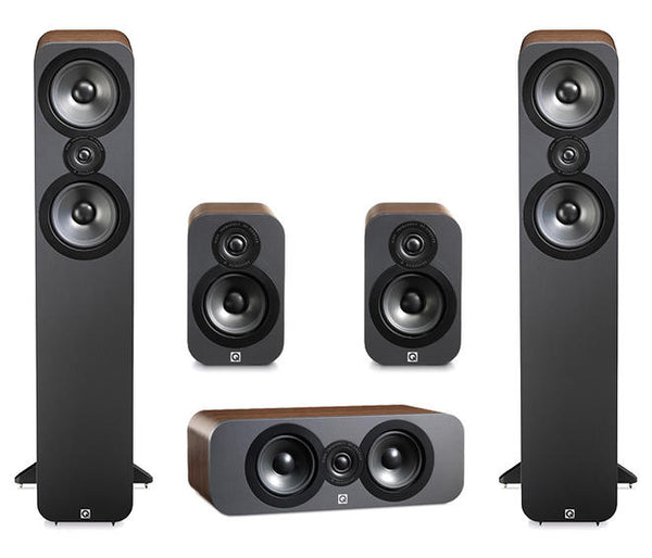 Q Acoustics 5.0 Speaker Package ( Q3010, Q3050, Q3090 C) - Jamsticks