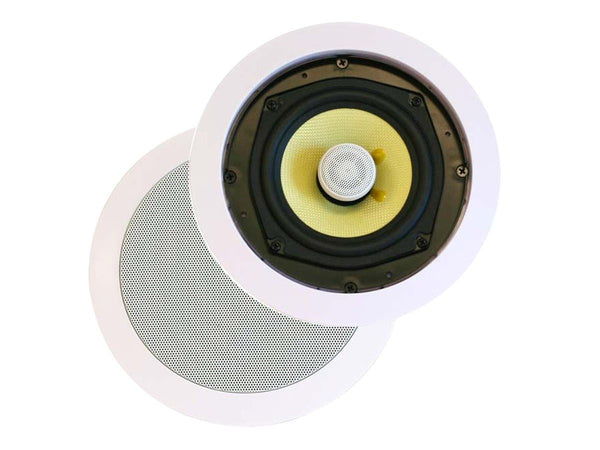 Monoprice Caliber In-Ceiling Speakers, 8in Fiber 2-Way (pair) (4104 )