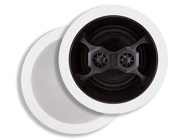 Monoprice Aria In-Ceiling Speakers, 6.5in Dual Input Stereo 2-Way (4619)