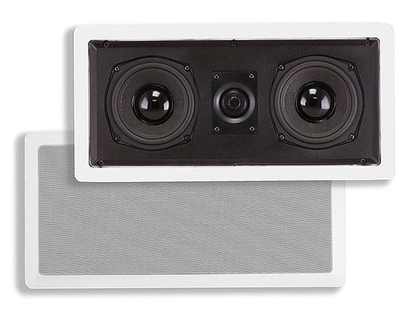 Monoprice Caliber In-Wall Center Channel Speaker, Dual 5.25in (single) (4881)