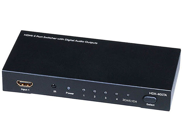 Monoprice PID-5557 HDMI Switch: 4x1 with Analog, Digital Coaxial, and Digital Optical Audio Outputs - Jamsticks