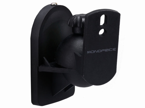 Monoprice PID-6979 Wall Mount Speaker Bracket Pair (Black) - Jamsticks