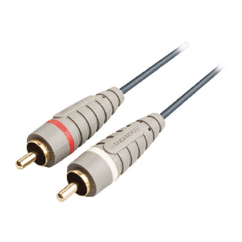 Bandridge BAL-4201 Stereo Audio Cable 2x RCA Male - 2x RCA Male 1.00 m Blue