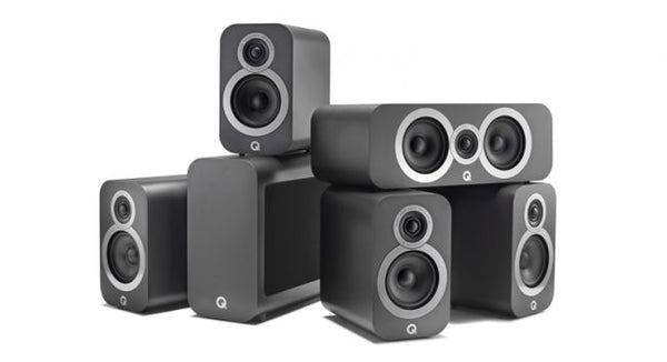 Q Acoustics 3010i Compact Bookshelf 5.1 ch Speakers package