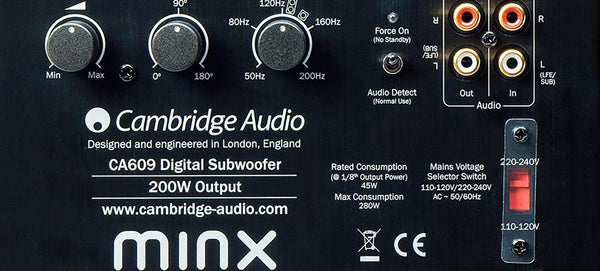 Cambridge Audio Minx X201 200W Subwoofer - Subwoofer - Jamsticks