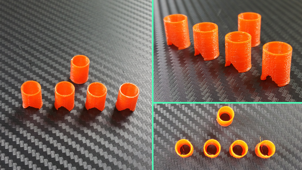 Motor Mounts in Ninjaflex Lava