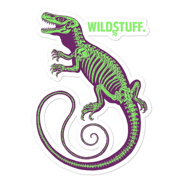 Croc Monitor Skeleton Purple/Green Sticker