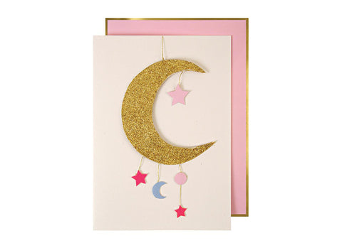 Merimeri Party -  Baby Girl Mobile Greetings Card
