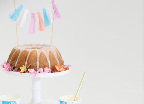 Merimeri Party - Tassel Cake Topper