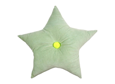 Merimeri Party - Velvet Star Cushion Green