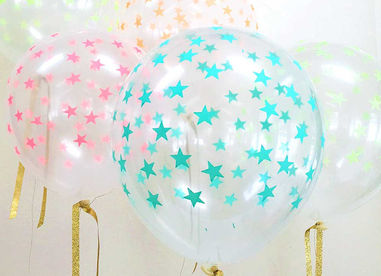 Merimeri Party - Mint Star Balloons