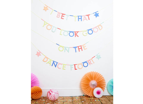 Merimeri Party - Multicolor Letter Garland Kit