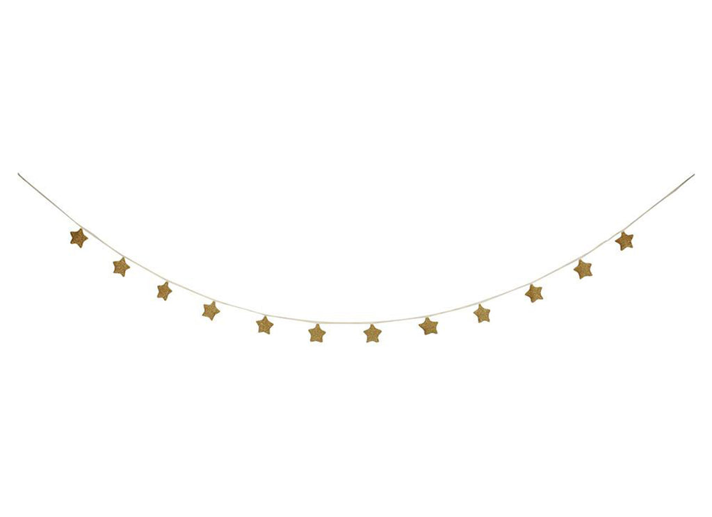 Merimeri Party - Gold Knitted Star Garland