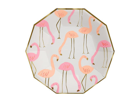 Merimeri Party - Large Flamingo Plates