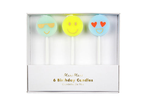 Merimeri Party - Emoji Candles